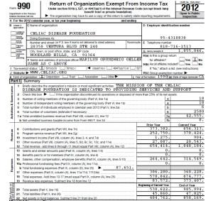 CDF 2012 Form 990