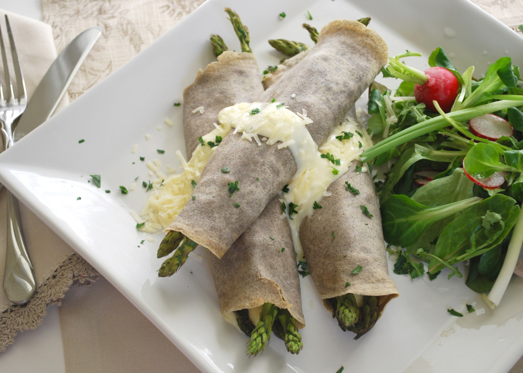 Crepes with Mornay Sauce