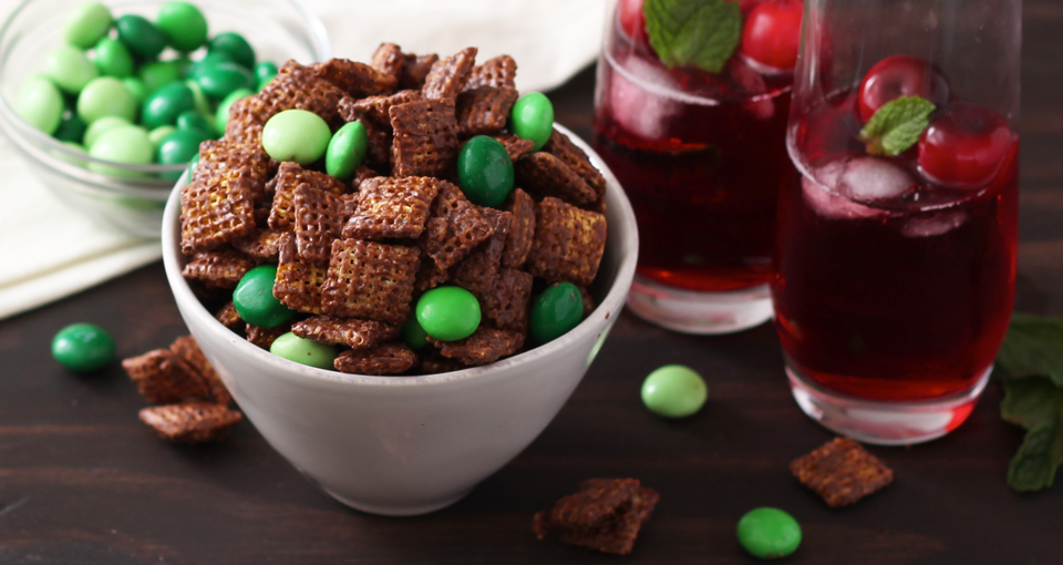 Chocolate Mint Chex Mix