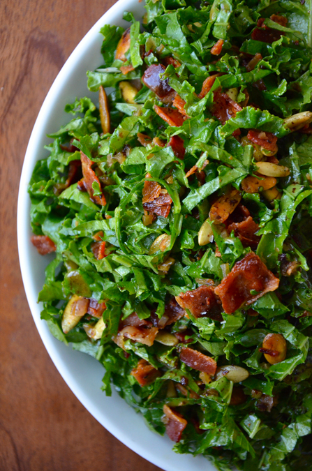 Kale, Bacon, and Parmesan Salad