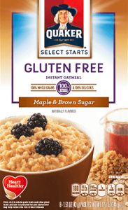 Quaker® Gluten Free Instant Oatmeal (Maple and Brown Sugar) | Eat