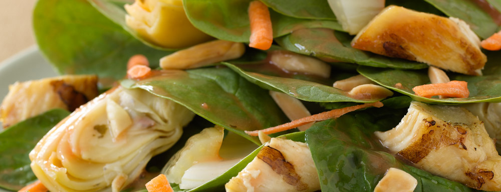 Roasted Fennel Spinach Salad