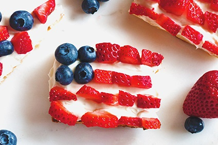 Patriotic Berry Bruschetta