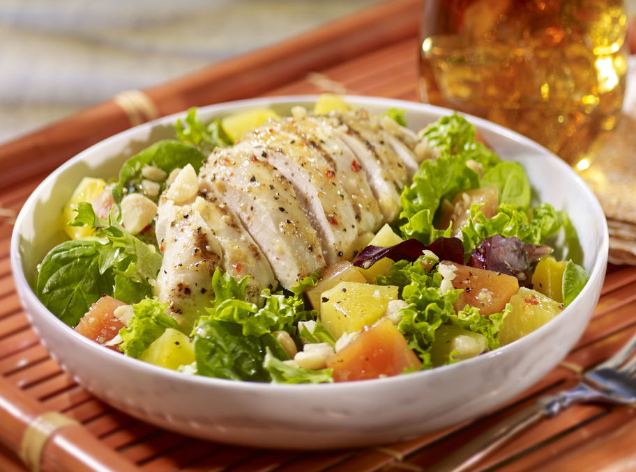 Grilled Chicken and Tropical Fruit Salad
