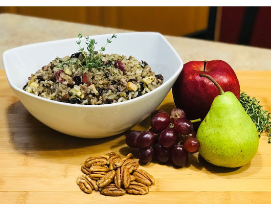 Summer Herb & Sausage Wild Rice, Fruit Stuffing