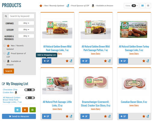 Products Home Page