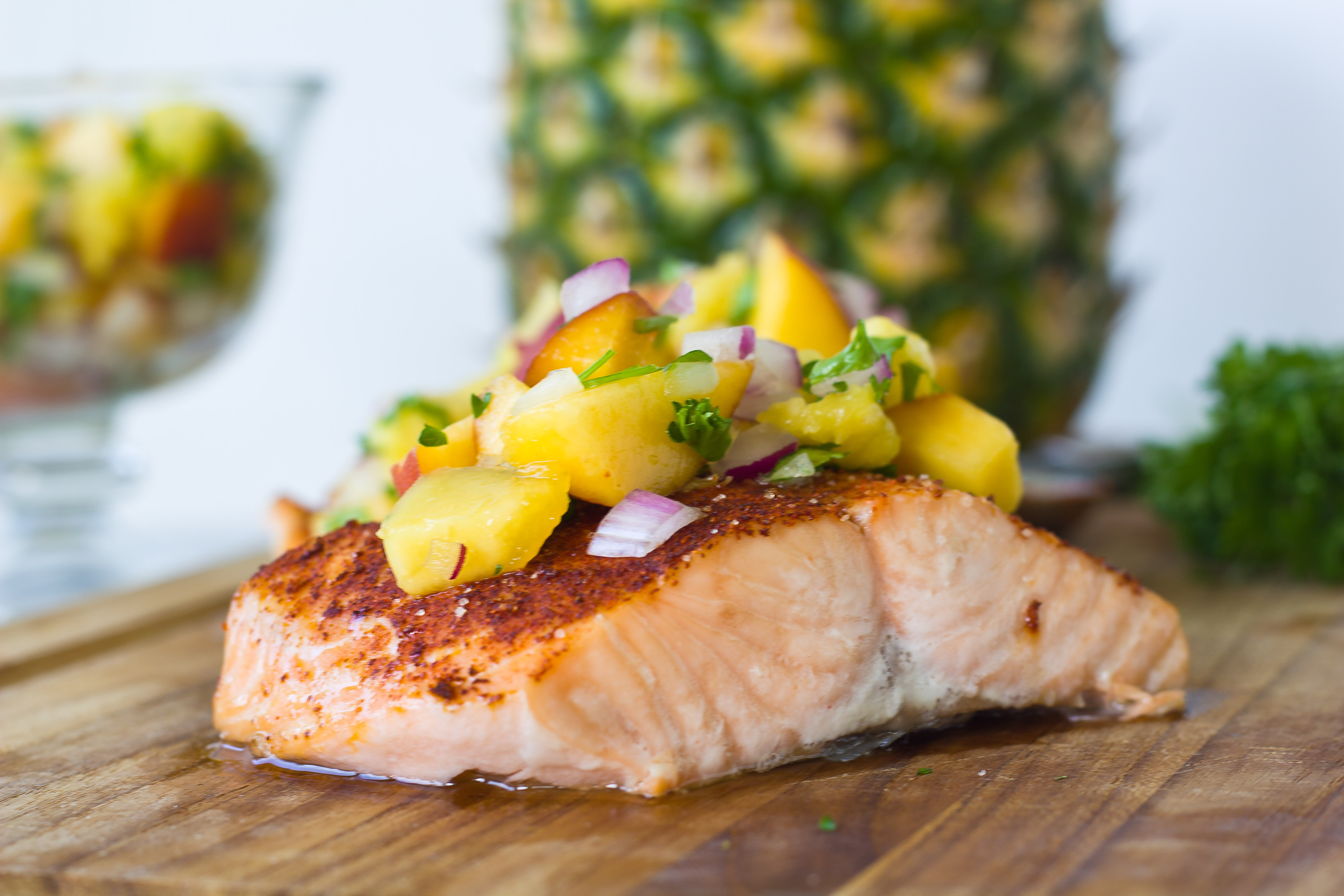 salmon pineapple