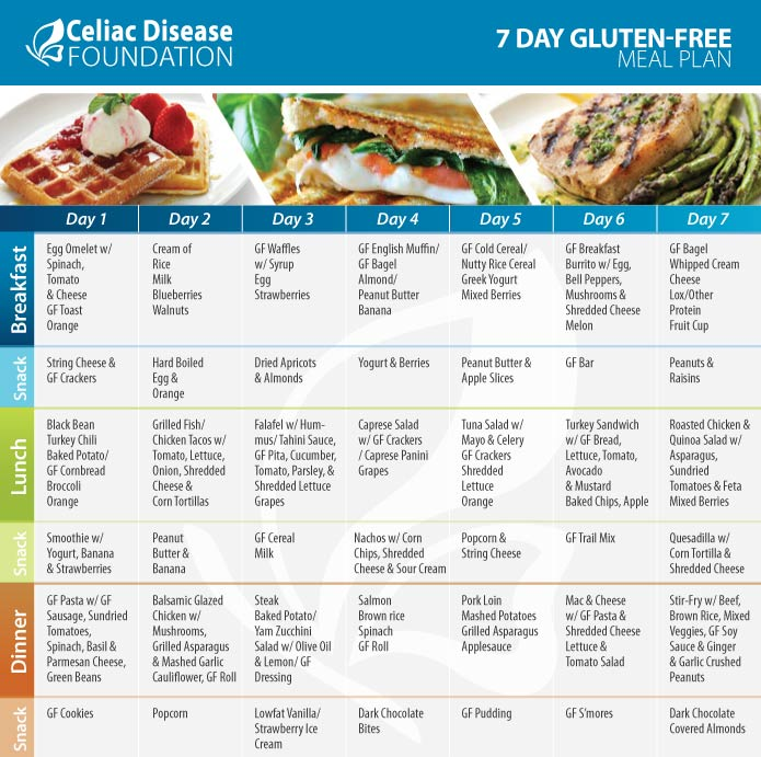 Download The Day GlutenFree Meal Plan  Celiac Disease Foundation