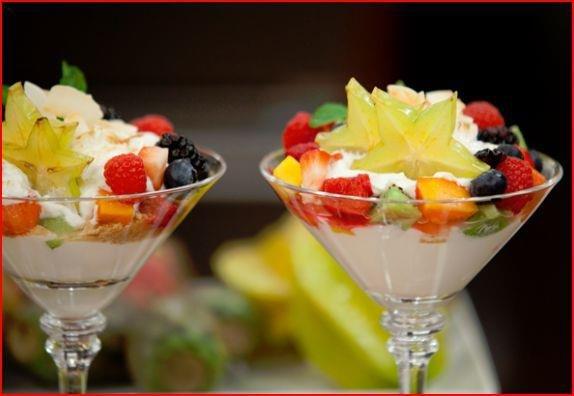 Star Berry Yogurt Parfait